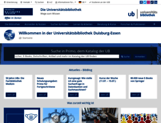 ub.uni-due.de screenshot