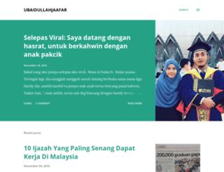 ubaidullahjaafar.blogspot.com screenshot