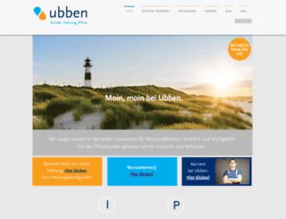 ubben-gmbh.de screenshot