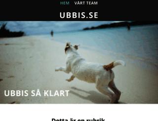 ubbis.se screenshot