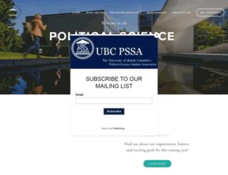 ubcpssa.squarespace.com screenshot