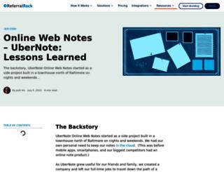 ubernote.com screenshot