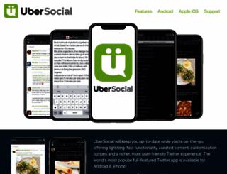 ubersocial.com screenshot