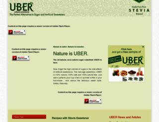uberstevia.com screenshot