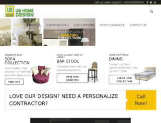 ubhomedesign.com screenshot