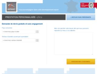 ubifrance.eddo.fr screenshot