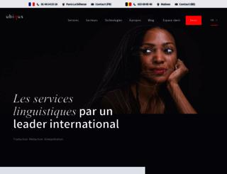 ubiqus.fr screenshot