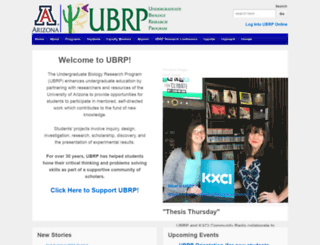 ubrp.arizona.edu screenshot