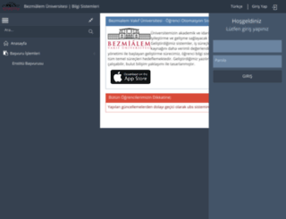 ubs.bezmialem.edu.tr screenshot