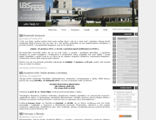 ubs.fesb.hr screenshot