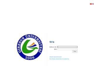 ubs.giresun.edu.tr screenshot