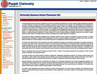 ubsplacement.puchd.ac.in screenshot