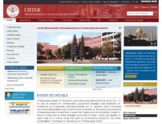 ubter.gov.in screenshot