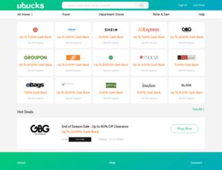 ubucks.com screenshot