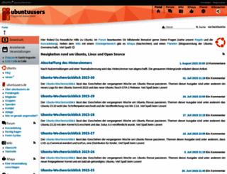 ubuntuusers.de screenshot