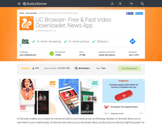 uc-browser-fast-download.droidinformer.org screenshot