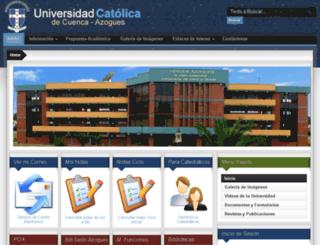 ucaazo.edu.ec screenshot
