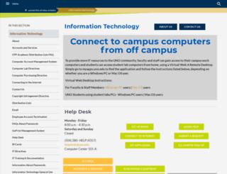 ucc.uno.edu screenshot