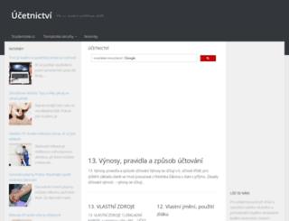 ucetnictvi.studentske.cz screenshot