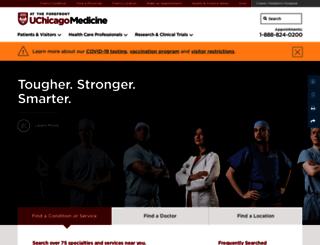 uchospitals.edu screenshot