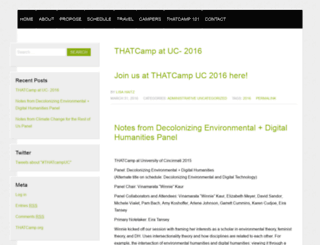 ucincinnati2015.thatcamp.org screenshot