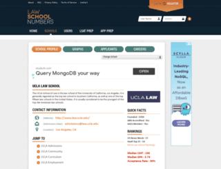 ucla.lawschoolnumbers.com screenshot