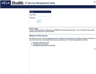 uclahsprod.service-now.com screenshot