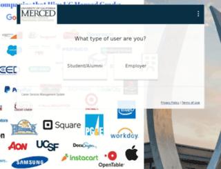 ucmerced-csm.symplicity.com screenshot
