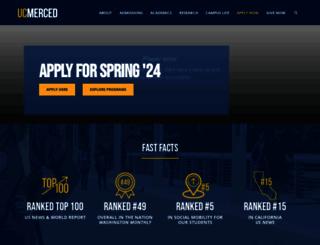 ucmerced.edu screenshot
