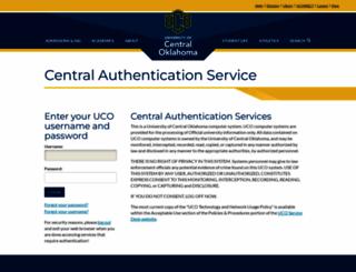uconnect.uco.edu screenshot