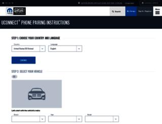 uconnectphone.com screenshot