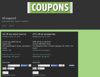 ucoupon2.wordpress.com screenshot