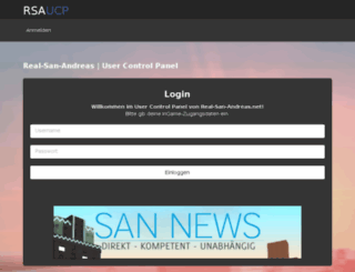 ucp.real-san-andreas.net screenshot