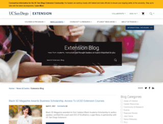 ucsandiegoextension.wordpress.com screenshot