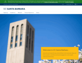 ucsb.edu screenshot