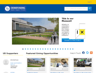 udel.givecorps.com screenshot