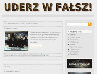 uderzwfalsz.wordpress.com screenshot