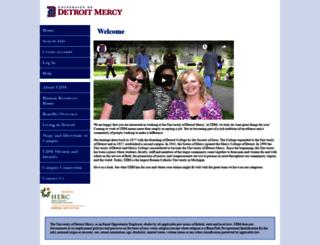 udmercy.peopleadmin.com screenshot