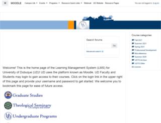 udonline.dbq.edu screenshot