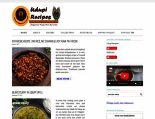 udupi-recipes.com screenshot