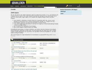 udvikleren.dk screenshot