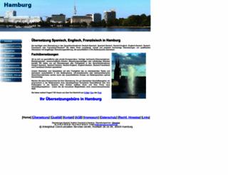uebersetzung-hamburg.de screenshot