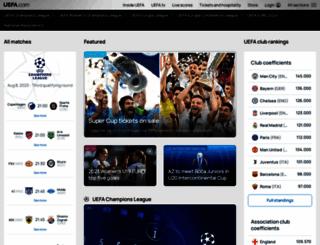 uefa.org screenshot