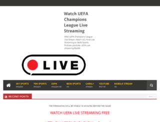 uefachampionsleaguestream.com screenshot