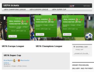 uefafinaltickets.com screenshot