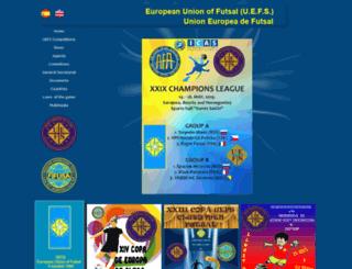 uefs.eu screenshot
