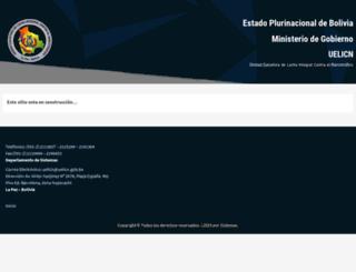 uelicn.gob.bo screenshot