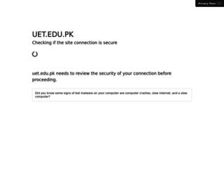 uet.edu.pk screenshot
