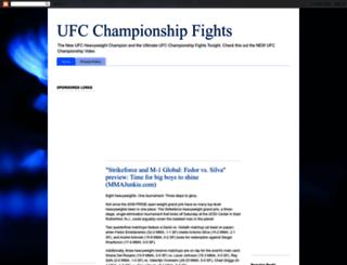 ufc-championship-0fights.blogspot.com screenshot