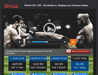 ufc.24x7livesports.com screenshot